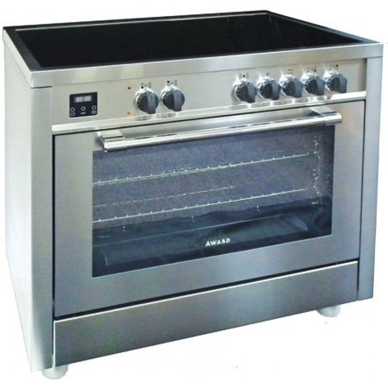 90cm Freestanding Ceramic Hob Electric Oven Cooker By