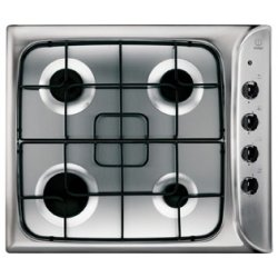 Indesit 60cm Gas Cooktop with 4 Burners - Stainless Steel (PIM 640 AS IX)