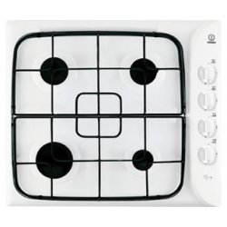 Indesit 60cm Gas Cooktop with 4 Burners - White (PIM 640 AS WH)