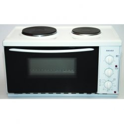 Award  58.5cm Portable Mini Kitchen with 25L Oven and 2 Solid Elements (8011)