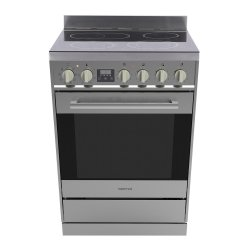 Parmco 60cm Stainless Steel 76L Freestanding Ceramic Cooktop Electric Oven (FS600SC)