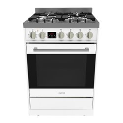 Parmco 60cm White SS Gas/Electric Freestanding Cooker (FS600WG)