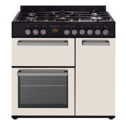 Parmco 90cm Beige Freestanding Gas Hob Electric Double Oven Cooker (CS900G-BGE)