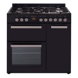Parmco 90cm Black Freestanding Gas Hob Electric Oven Cooker (CS900G-BLK)