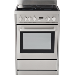 Eurotech 60cm Freestanding Ceramic  Cookop/Electric Oven with Catalytic Cleaning (EUR-FSC60)