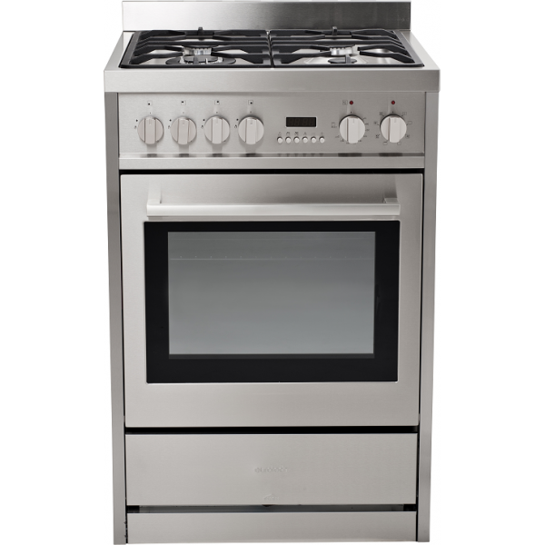 Eurotech 60cm Freestanding Gas/Electric Oven with Catalytic Cleaning (EUR-FSGE60)