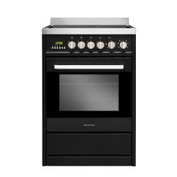 Parmco 60cm Black Freestanding Ceramic Cooktop with Electric Oven Cooker (FS600-BKC)