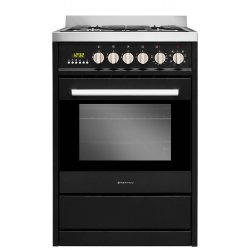 Parmco 60cm Black Gas/Electric Freestanding Combination Cooker (FS600-OBS)