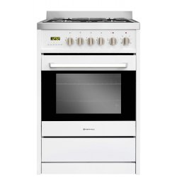 Parmco 60cm White Freestanding Gas/Electric Cooker (FS600-WHT)