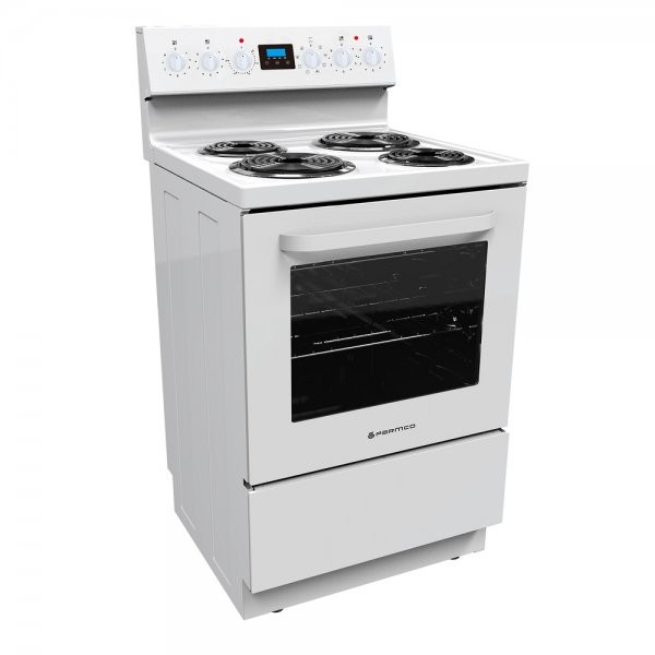 Parmco 60cm White Freestanding Electric Radiant Coil Elements Cooker (FS60R-8W)