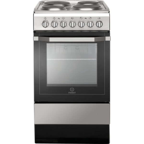 Indesit Electric Cooker with EGO Elements/Electric Oven 50cm (I5ESH1(X)