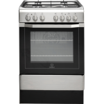 60cm Gas Hob/Electric Oven Freestanding Stainless Steel Cooker by Indesit I6G52(X)