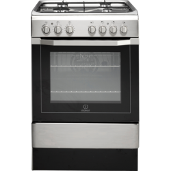 Indesit 60cm Freestanding Gas Hob/Electric Oven Cooker in Stainless Steel  I6G52(X)