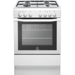 Indesit 60cm Gas Hob/Gas Oven Freestanding Cooker in White (I6GG1(W)