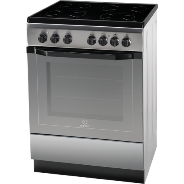 Indesit 60cm Ceramic/Electric SS Freestanding Cooker (I6VV2AX)