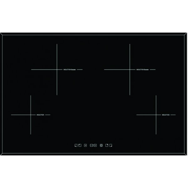 Eurotech 77cm Black Glass Induction Hob manufactured in Italy (EDI704NF)