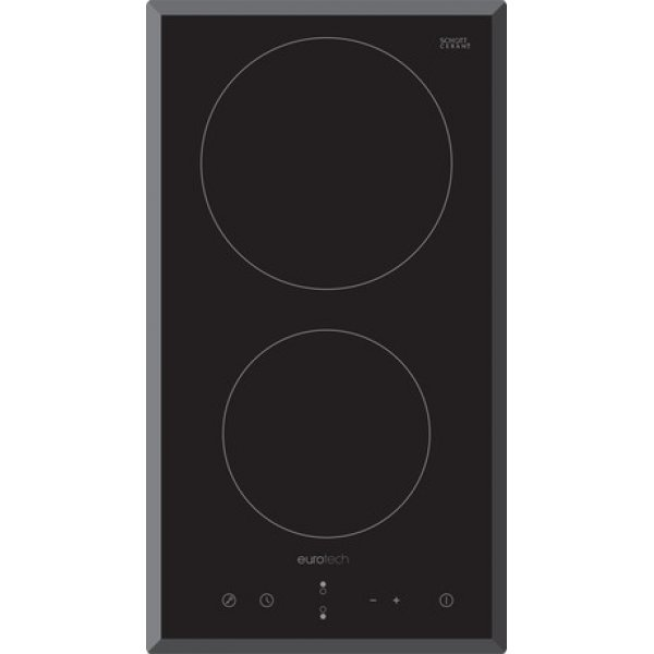 Eurotech 30cm Black 2 Zone Ceramic Cooktop with Sensor Touch Controls (ED-C302)