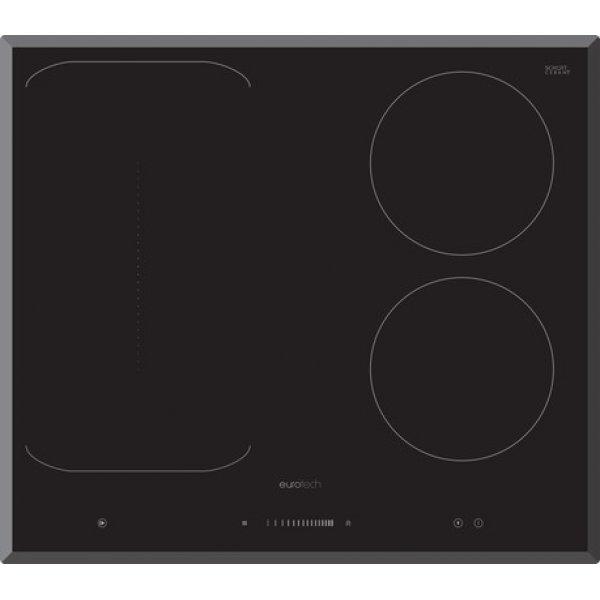 Eurotech 60cm Black 2 Induction Zones & 1 Freezone Cooktop (ED-IFZ604)
