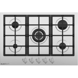 Eurotech 75cm 5 Burner Gas Hob with Triple Crown Burner (EDG-705 IX)