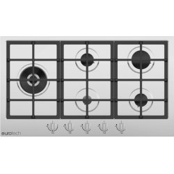 Eurotech 90cm 5 Burner Gas Cooktop Incl Dual Double Crown Burner (EDG-905 IX)
