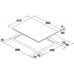 Eurotech 90cm Black Glass Induction Cooktop  (EDI905NF)