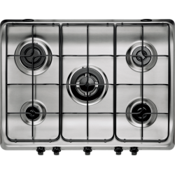 Indesit 70cm 5 Gas Burner Stainless Steel Cooktop (PIM 750 AST IX)