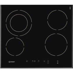 Indesit 60cm Ceramic Bevelled Front Edge Cooktop (VRA 641 DB)