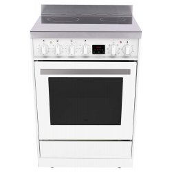 Eurotech 60cm White Ceramic/Electric Stove with Catalytic Cleaning (ED-EUROC60WH)