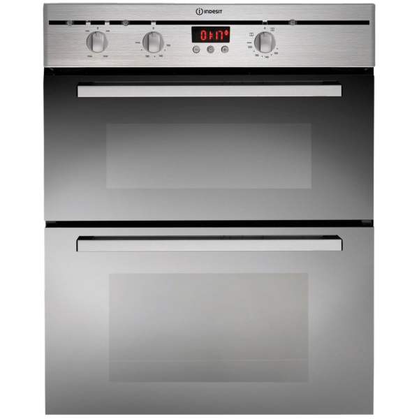 Indesit 60cm Fan Forced Double Multi-function Oven in Stainless Steel (FIMD 23 IX)