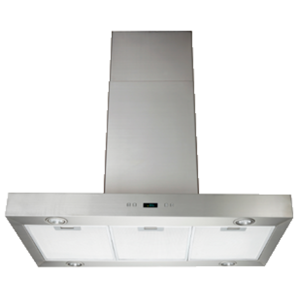 Eurotech 120cm Box Style Wall Mounted Rangehood - Stainless Steel (ED Rigel 1200 Box Style)