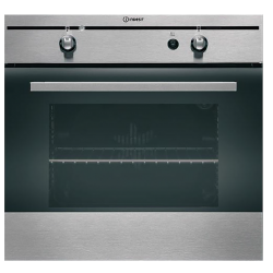 Indesit GAS Built-In 58L Oven with Electric Grill - Stainless Steel (FGIM K IX)
