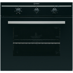 Indesit Built-In Electric Oven - Black Glass Fan Assisted 56L (IFG 51 KA BK)