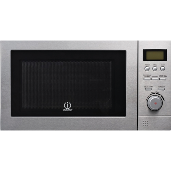 Indesit Microwave Grill 28cm  Stainless Steel (D90D25ESP-A5)