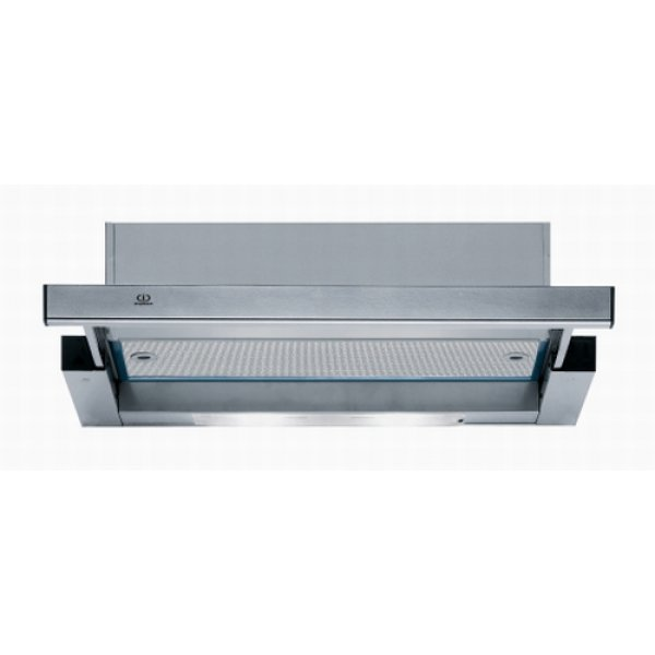 Indesit 60cm Slide Out Stainless Steel Rangehood  (H461.1 IX)