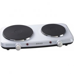 Award Portable Electric Double Hotplate with Solid Elements 45.5cm (HP2252)