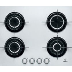 Indesit 60cm  4 Burner Gas Hob on White Glass  (IPG 640 S WH)