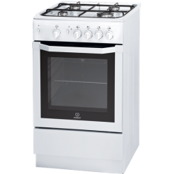 Indesit Gas Hob/Gas Oven Cooker White 50cm (I5GGW)