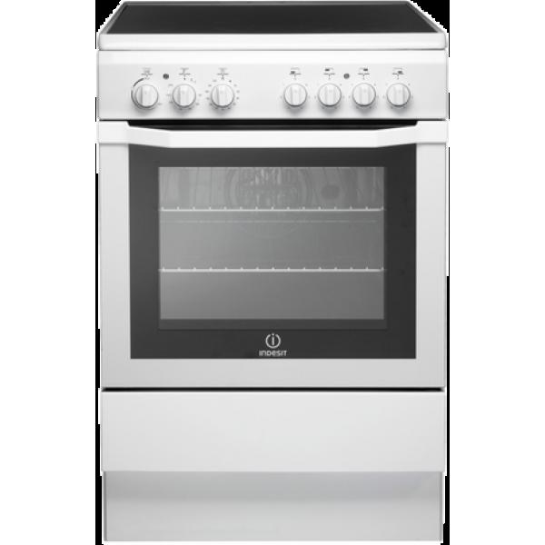 Indesit 60cm Ceramic/Electric White Freestanding Cooker (I6VV2AW)