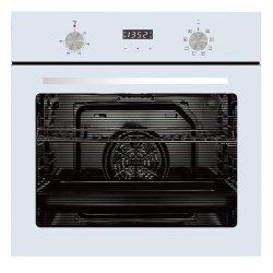 Parmco 60cm 76L White 8 Function Oven (OX7-4-6W-8-1)