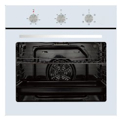 Parmco 60cm 76L White 5 Function Oven (OX7-4-6W-5-1)