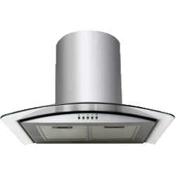 60cm S/S Curved Glass Canopy Rangehood by Eurotech (ED-60PH)