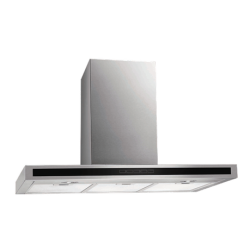 Eurotech 90cm Wall Mounted Stainless Steel with Black Glass Designer Rangehood (ED R90 63)