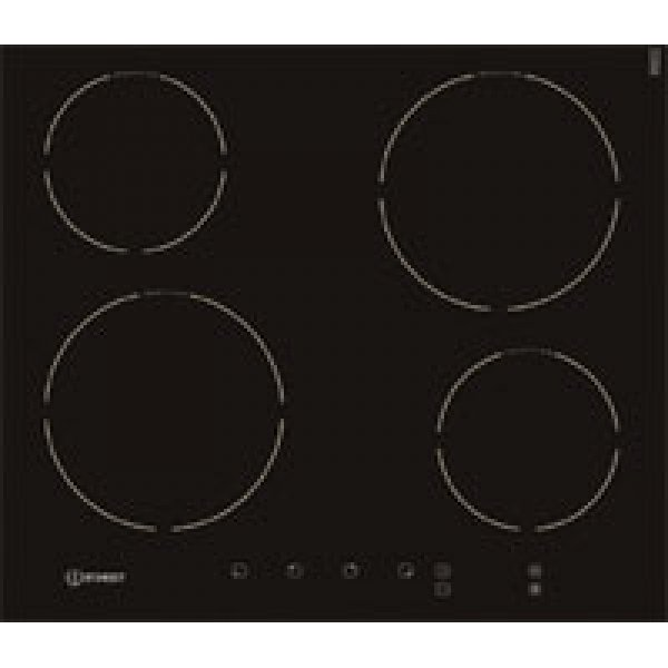 Indesit 60cm Black Glass Frameless Induction Hob with Touch Control (VIA640.1C)