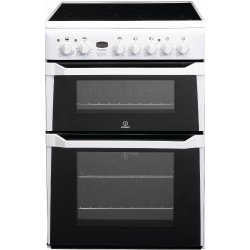 Indesit 60cm Ceramic / Electric Freestanding Double Oven (ID60C2W)