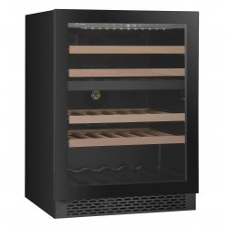 Award 60cm Advanced Series Undercounter 39 Bottle Dual Zone Black Wine Cooler (WCDZ60BL)