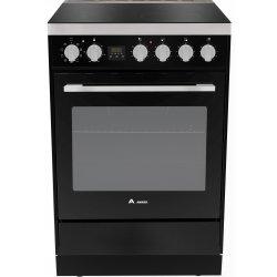 Award 60cm Freestanding Matt Black Ceramic Hob/Electric Oven (AFEC60BL)