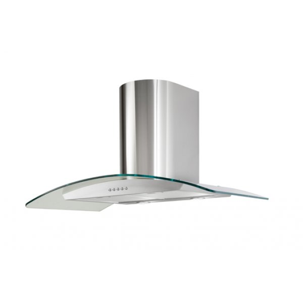 Award 90cm Curved Glass Wall Mounted Rangehood in Stainless Steel (CG90 SI)