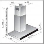 90cm Slim Box Black Glass Canopy Rangehood by Award (CW49510)