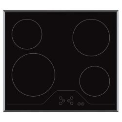 Award 60cm Built-in Ceramic Hob with Bevelled Edges and Soft Touch Controls (H170)