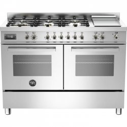120cm Stainless Steel Freestanding Bertazzoni Gas Cooktop Electric Oven & Griddle (PRO120 6G MFE D XT)